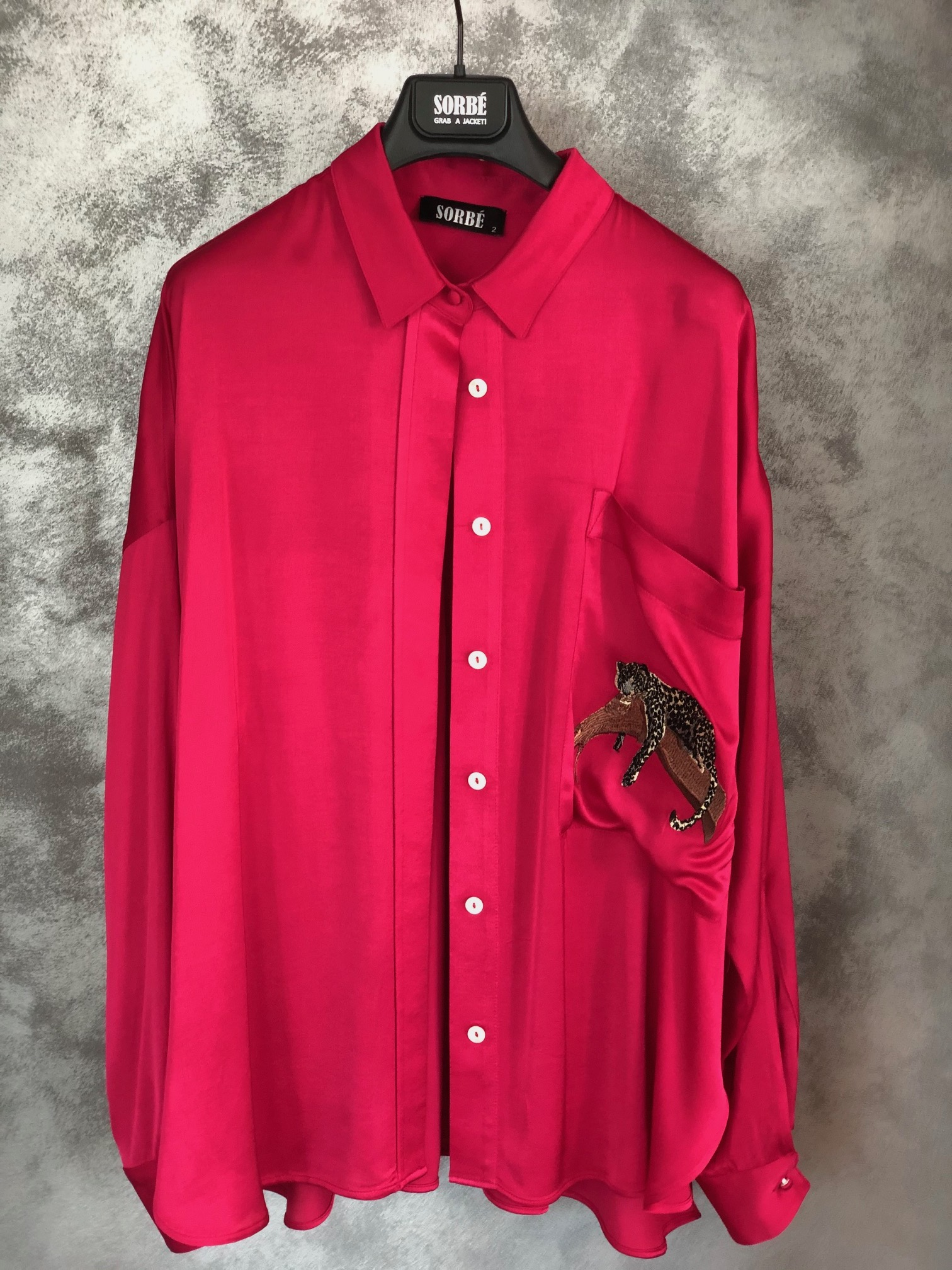 Oversized Shirt - Fuchsia by Sorbé on curated-crowd.com