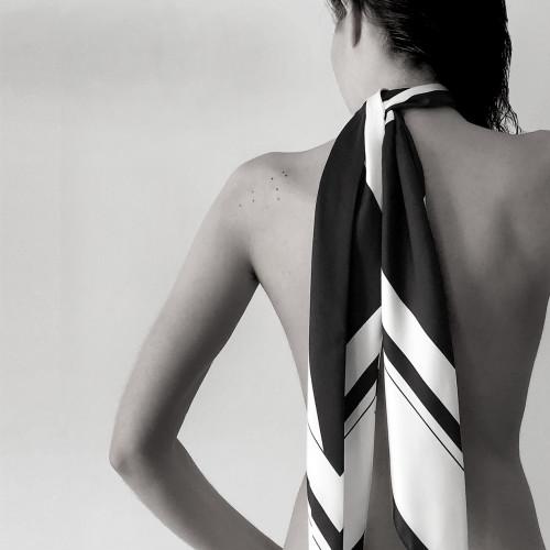 Peace Silk Skinny Scarf - S by Sidikai on curated-crowd.com