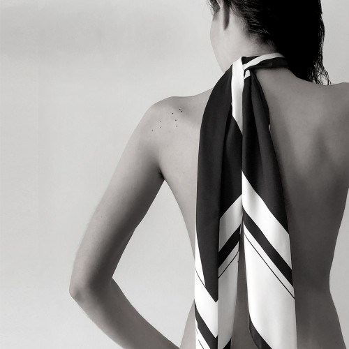 Peace Silk Skinny Scarf - L by Sidikai on curated-crowd.com