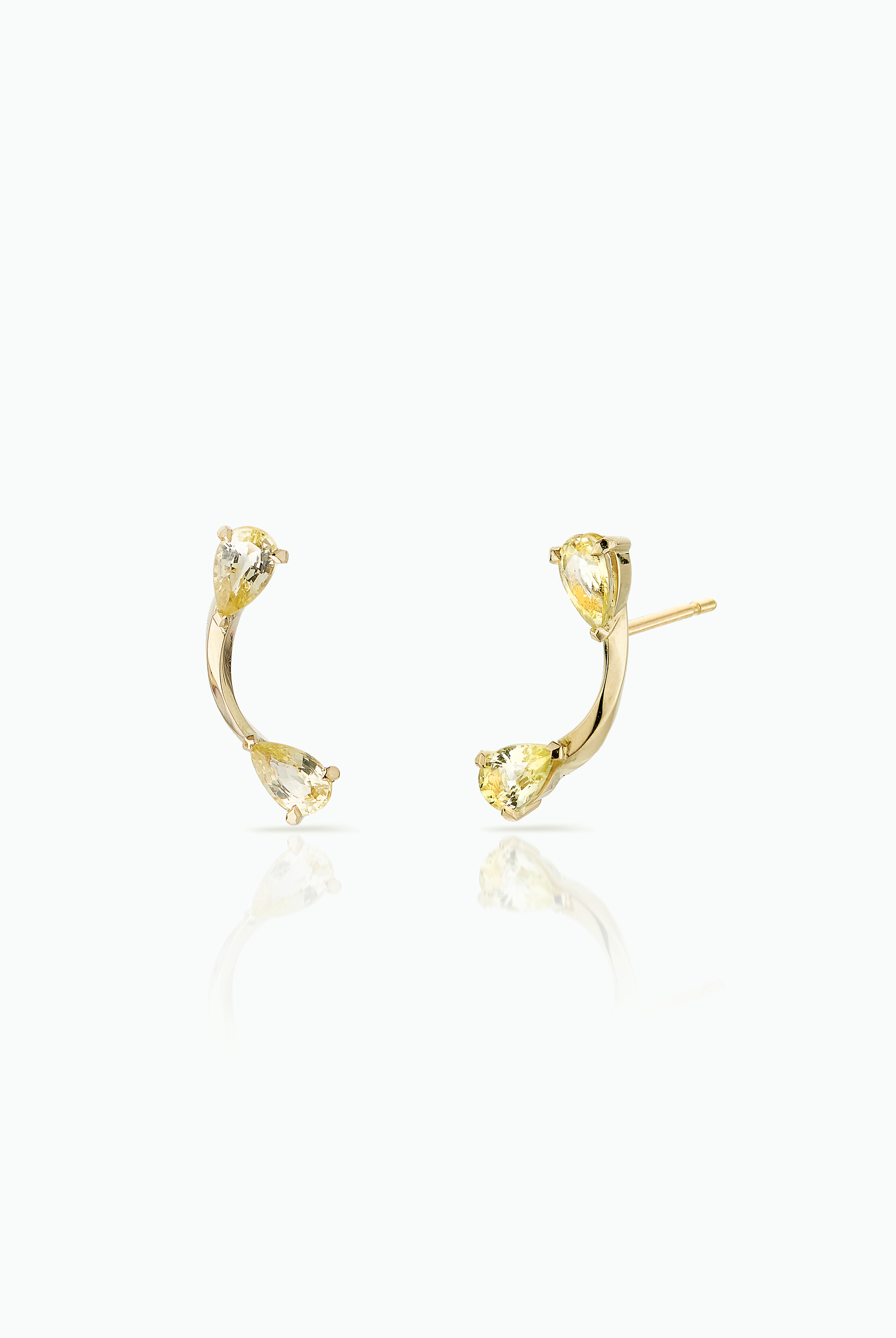 Lemon Flare Studs by LeSter on curated-crowd.com