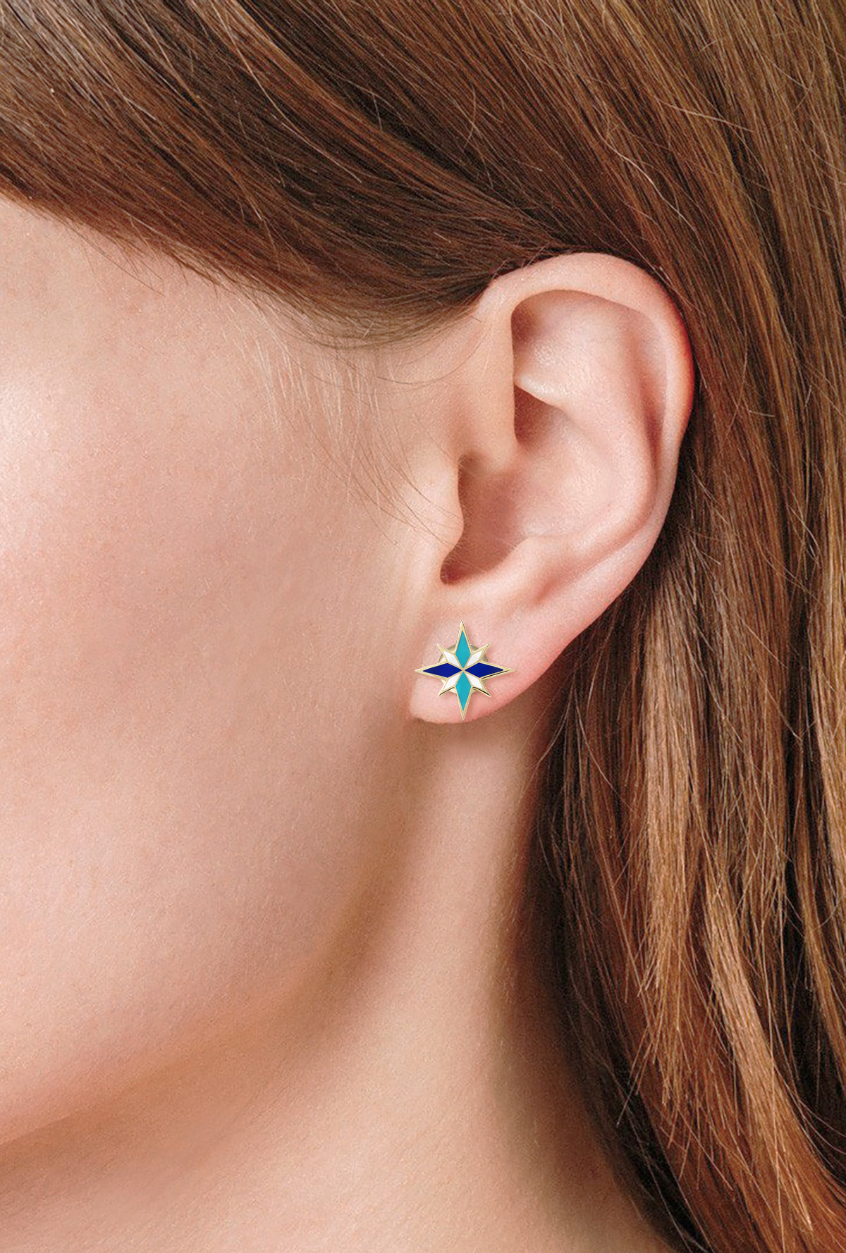 Blue Sirius Earrings by Aveen on curated-crowd.com