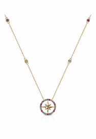 Nova Rainbow Necklace- Multi-Stone,18K Gold by Aveen on curated-crowd.com