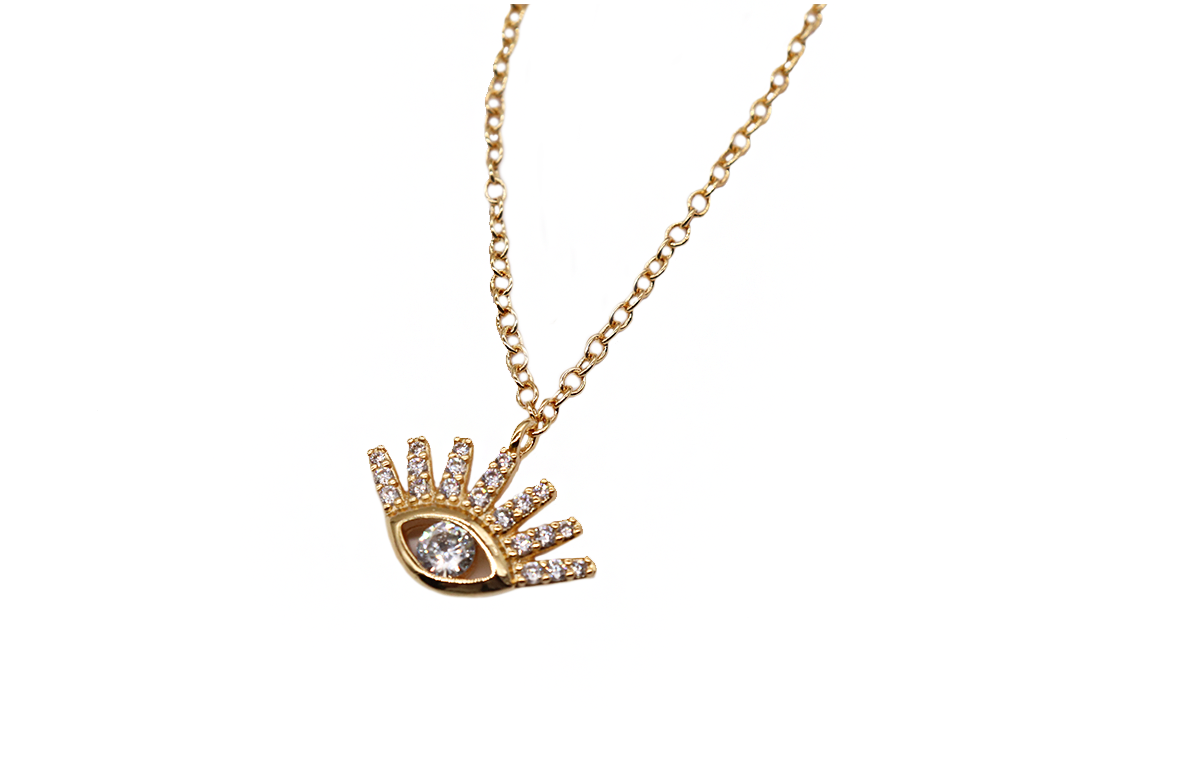 Nazar Necklace by Lalou London on curated-crowd.com