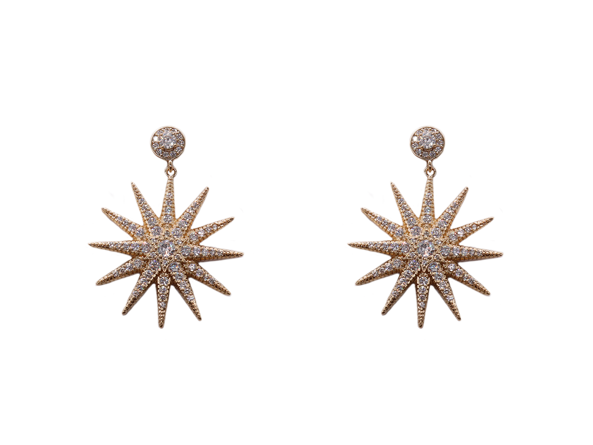 Starburst Earrings by Lalou London on curated-crowd.com