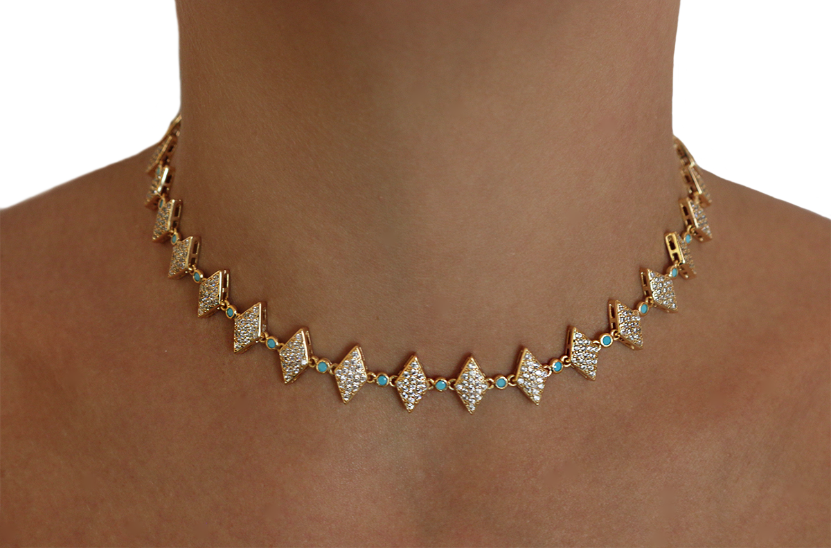 The Riviera Choker by Lalou London on curated-crowd.com
