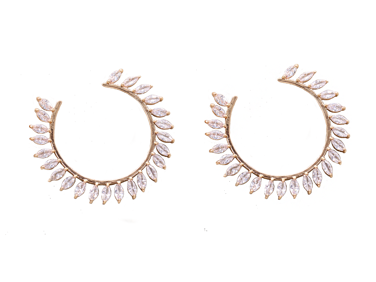 White Winter Earrings by Lalou London on curated-crowd.com