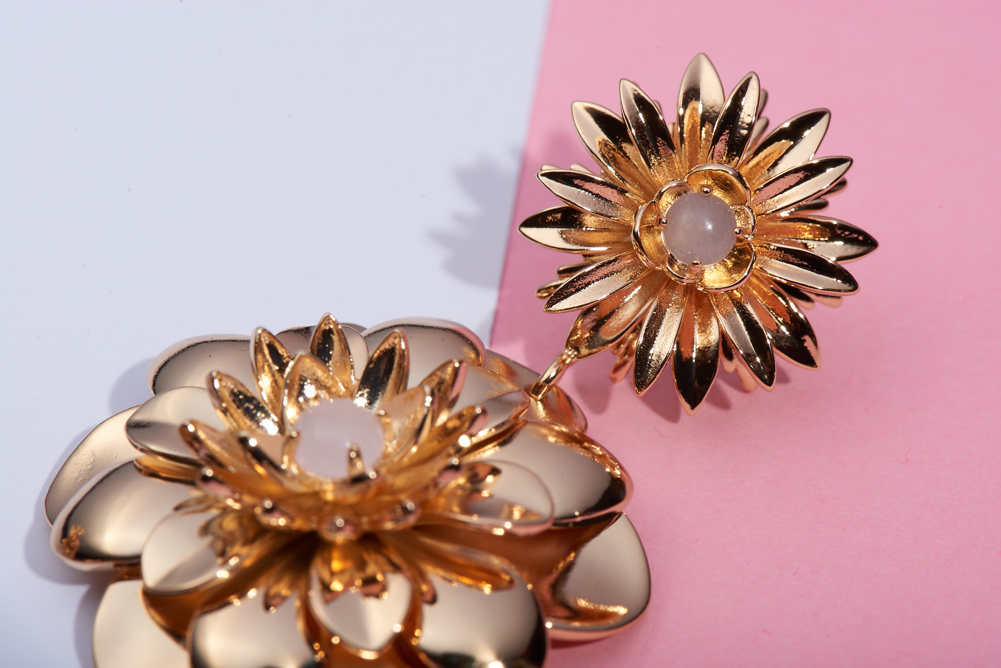 Dahlia Flower Earrings by Lalou London on curated-crowd.com