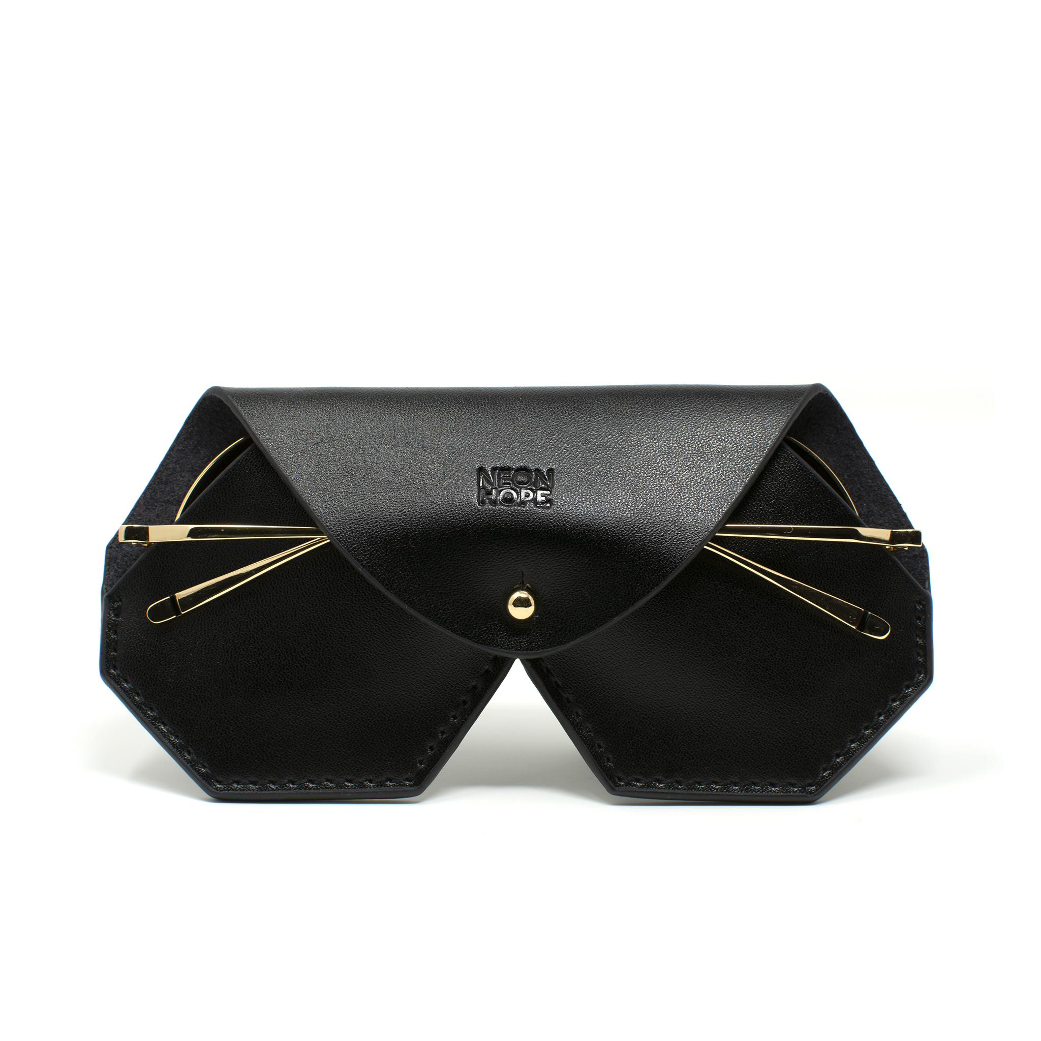 Leather glasses case - Black by Neon Hope on curated-crowd.com