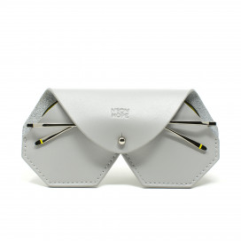 Leather glasses case - Grey by Neon Hope on curated-crowd.com