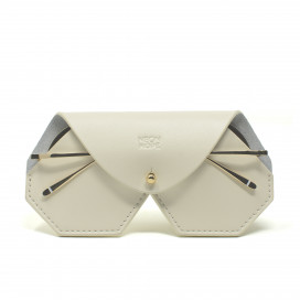 Leather glasses case - White by Neon Hope on curated-crowd.com