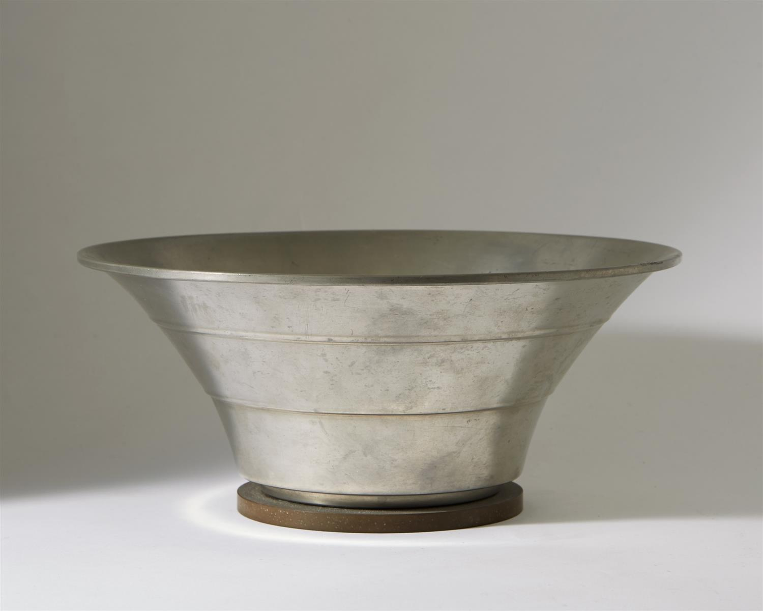 Bowl designed by Hugo Gelia for Ystad Metall, Sweden. 1941. by Modernity on curated-crowd.com