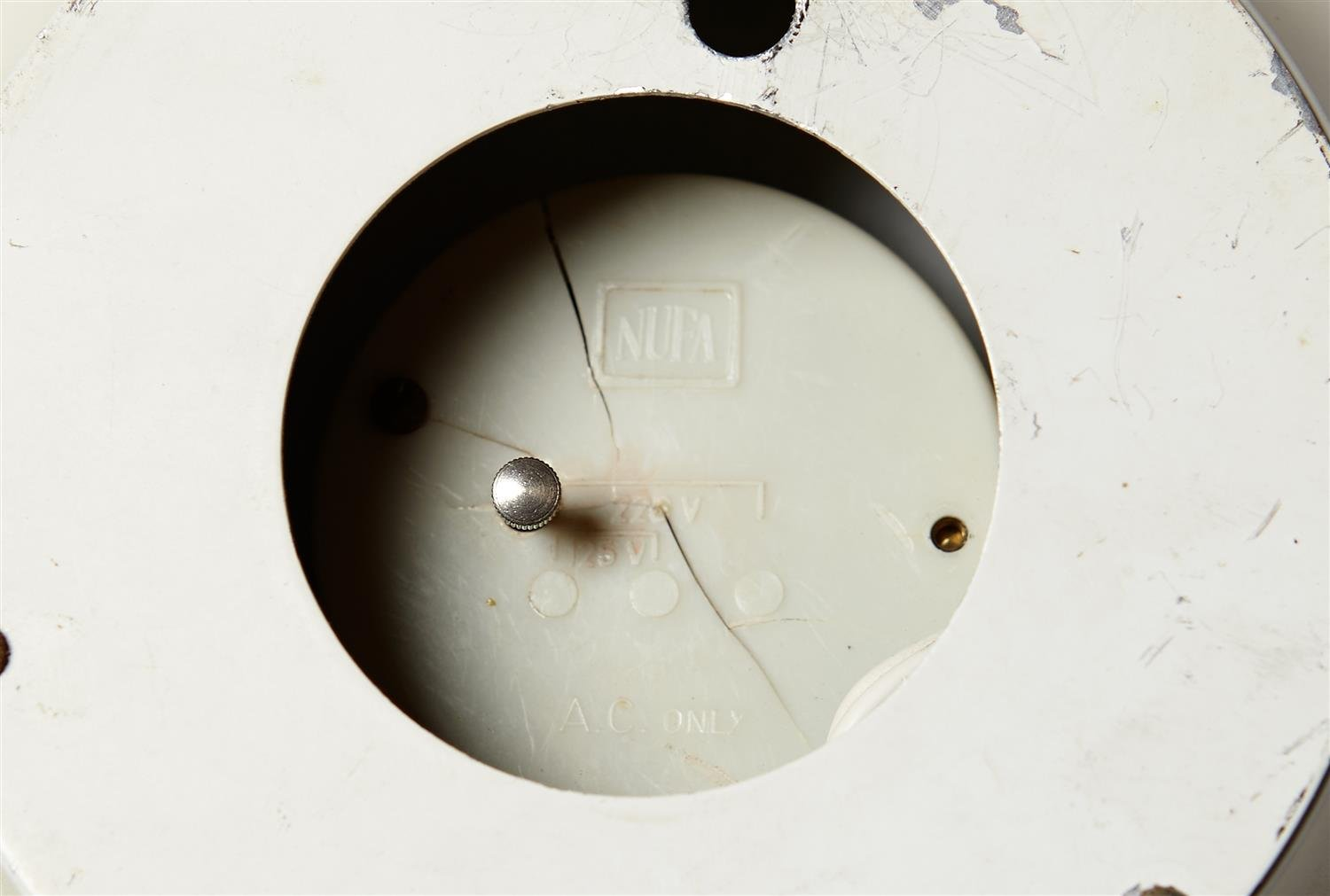 Wall Clock, designed by Henning Koppel for Louis Poulsen, Denmark. 1950's. by Modernity on curated-crowd.com