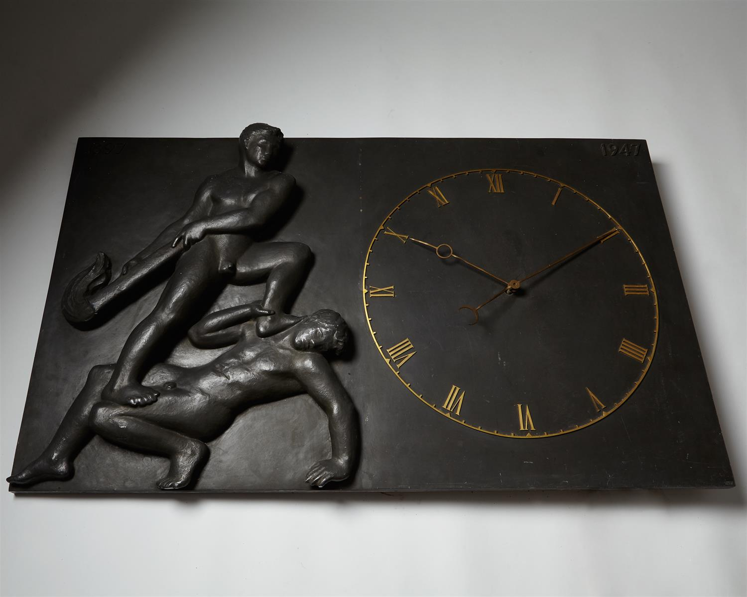 Monumental Wall Clock, Anonymous, Denmark. 1947. by Modernity on curated-crowd.com