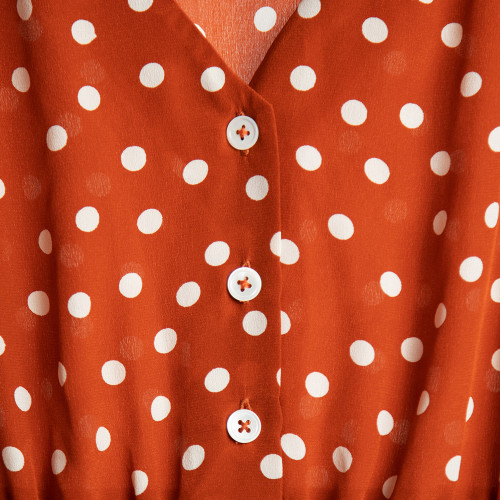 Caroline Silk Midi Dress by Quin on curated-crowd.com