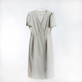 Lydia Wrap Midi Dress by Quin on curated-crowd.com