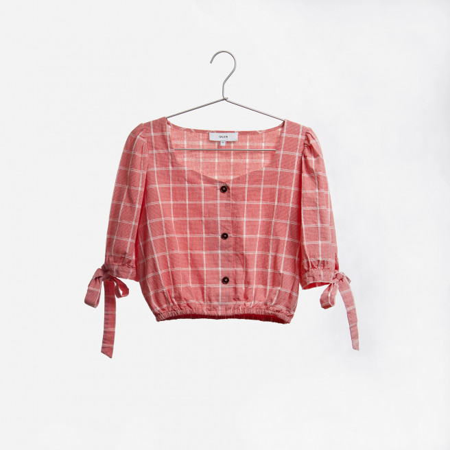 Barbara Retro Cropped Top by Quin on curated-crowd.com