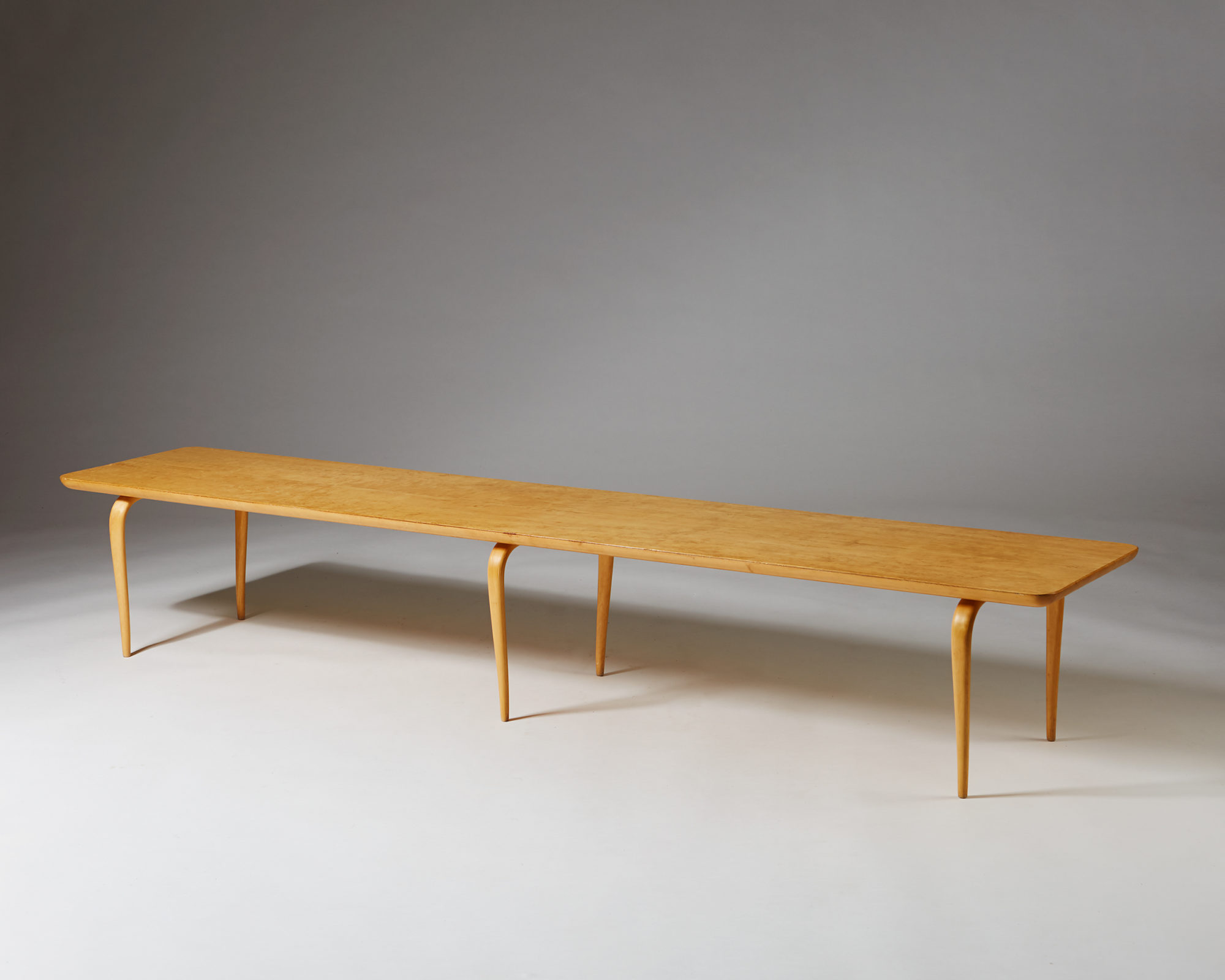 "Bench/coffee Table ""Annika"" designed by Bruno Mathsson for Karl Mathsson, Sweden. 1960's. by Modernity on curated-crowd.com"