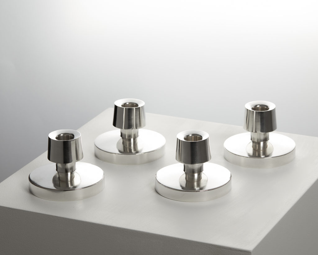 Set of Four Candlesticks, designed by Rey Urban, Sweden. 1967. by Modernity on curated-crowd.com