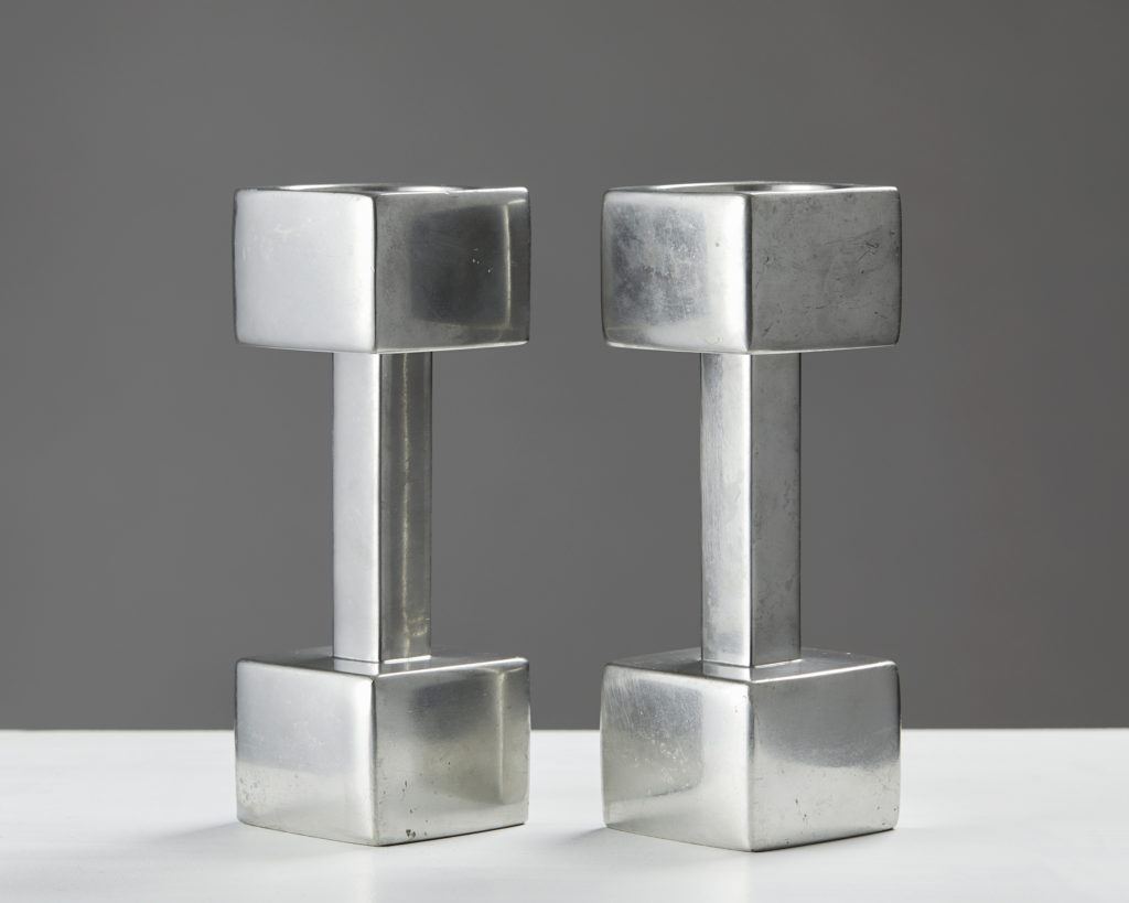 Pair of Candlesticks, designed by Astrid Fog for Geust Andersen, Denmark, 1960's by Modernity on curated-crowd.com