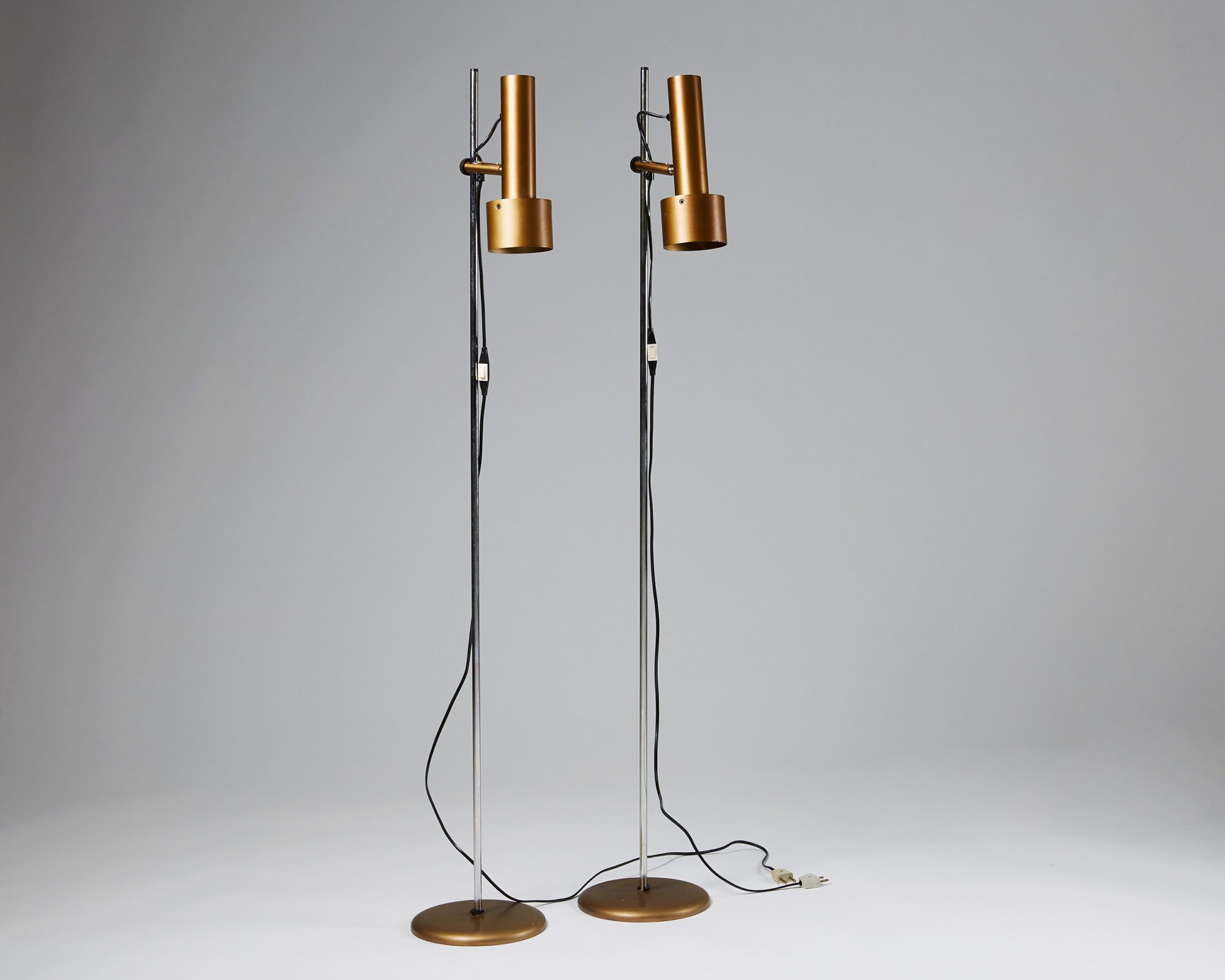 Pair of Floor Lamps, Anonymous, Denmark. 1960's. by Modernity on curated-crowd.com