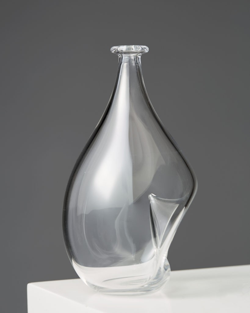 Vase designed by Ingeborg Lundin for Orrefors, Sweden. 1950's. by Modernity on curated-crowd.com