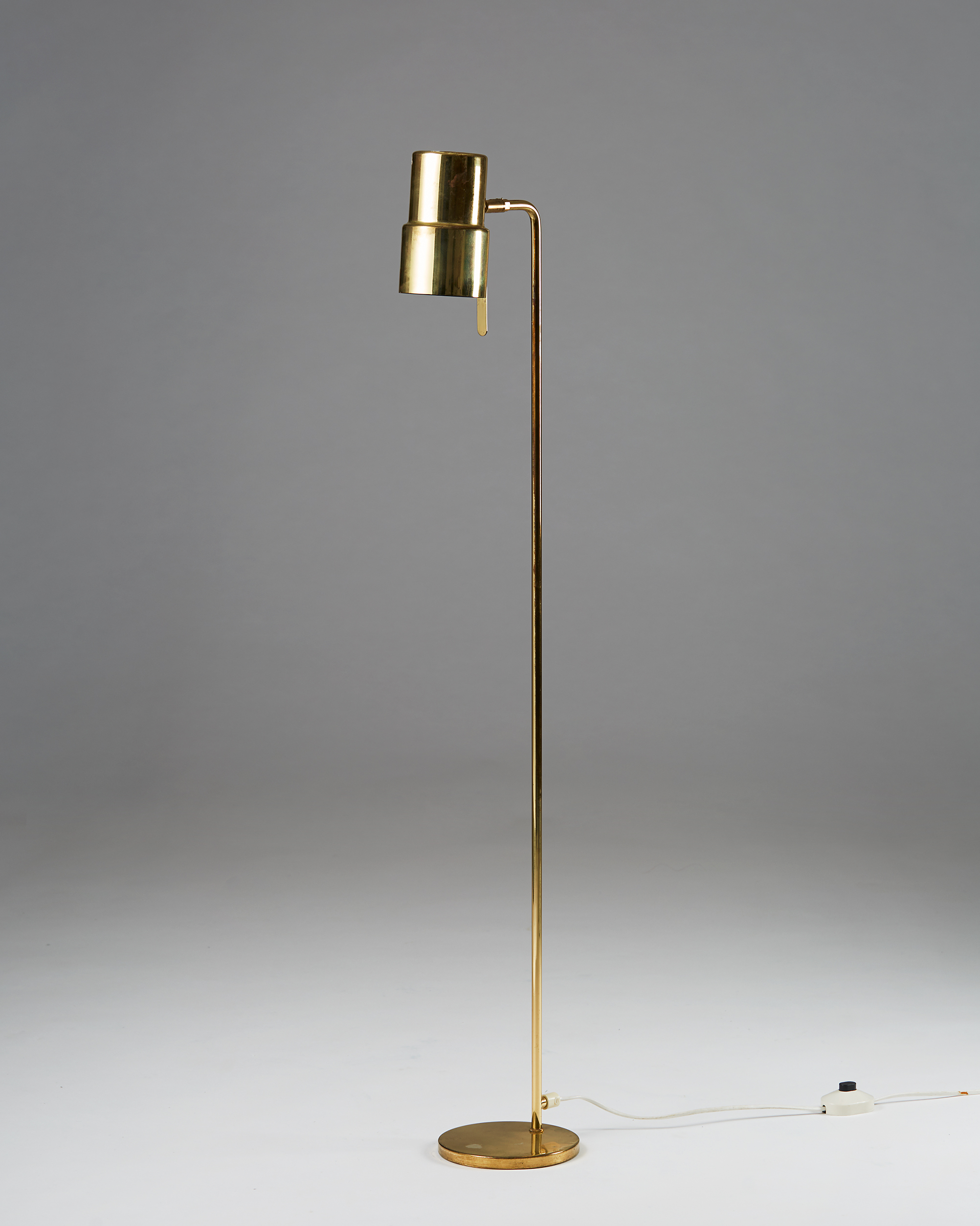 Pair of Floor Lamps designed by Hans-Agne Jakobsson, Sweden. 1960's. by Modernity on curated-crowd.com