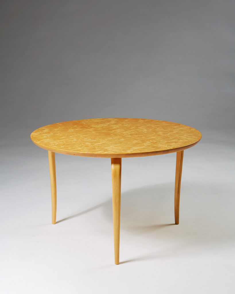Occasional table Annika designed by Bruno Mathsson for Karl Mathsson, Sweden. 1973. by Modernity on curated-crowd.com