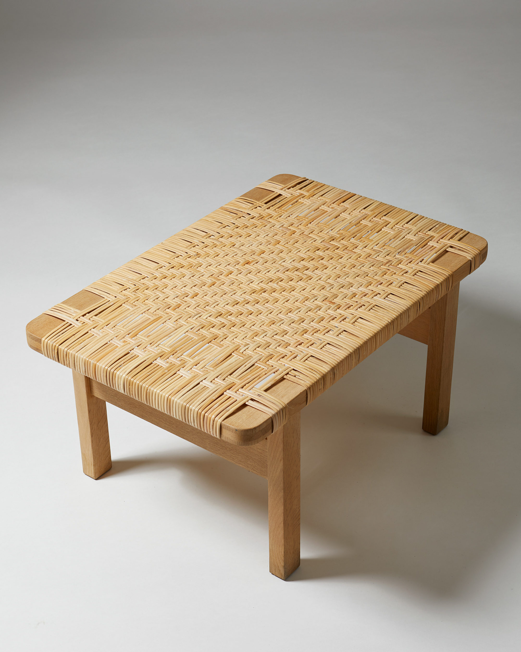 Occasional table/Bench model 5273 designed by Börge Mogensen for Fredericia Stolefabrik, Denmark. 1950's. by Modernity on curated-crowd.com