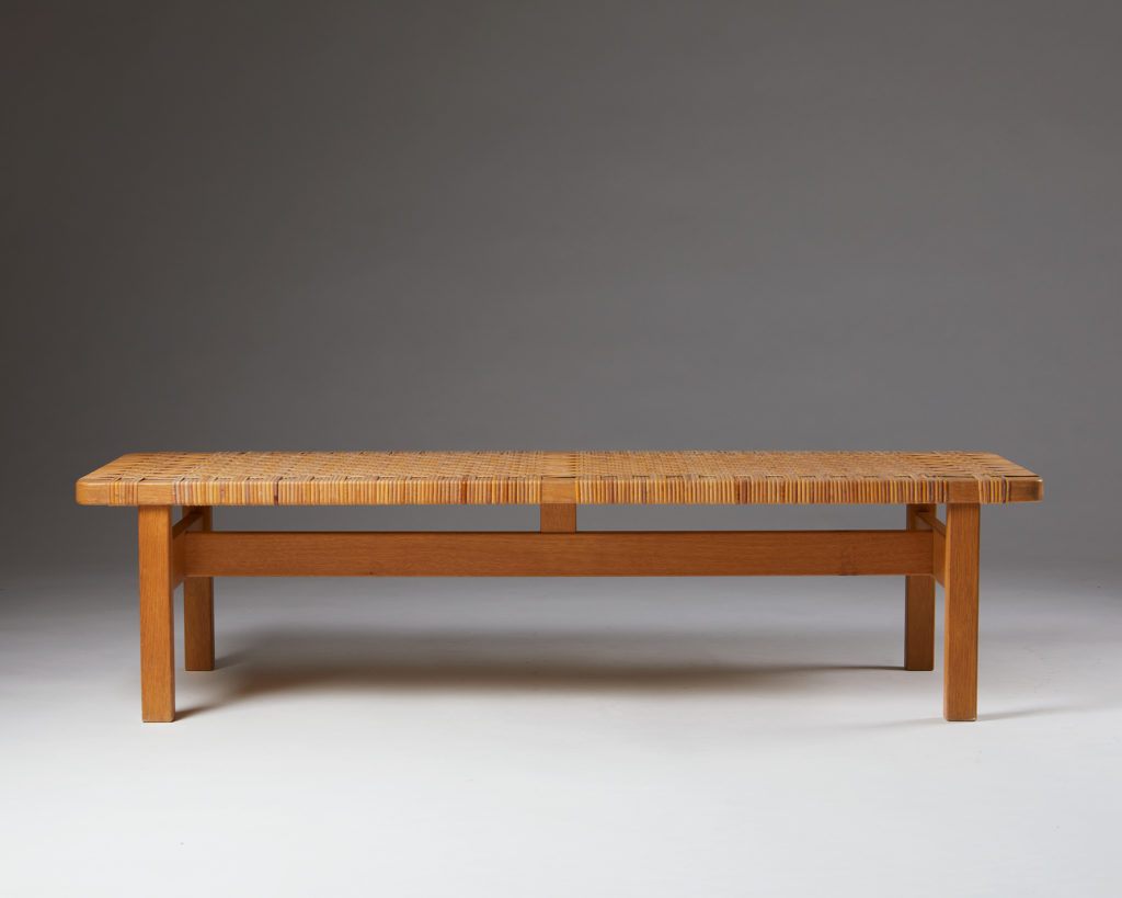 Occasional table/bench model 5272 designed by Börge Mogensen for Fredericia Stolefabrik,  Denmark, 1950s. by Modernity on curated-crowd.com