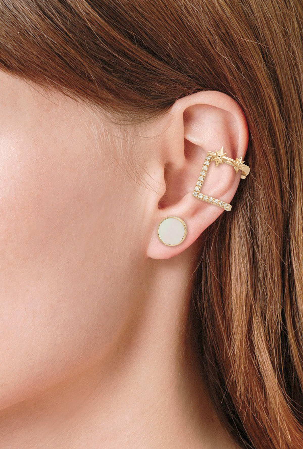 Bellatrix Ear Cuff - 18K Rose Gold by Aveen on curated-crowd.com