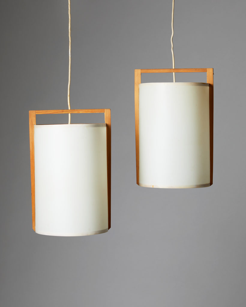 Pair of Ceiling Lamps, Anonymous, Sweden, 1980's. by Modernity on curated-crowd.com