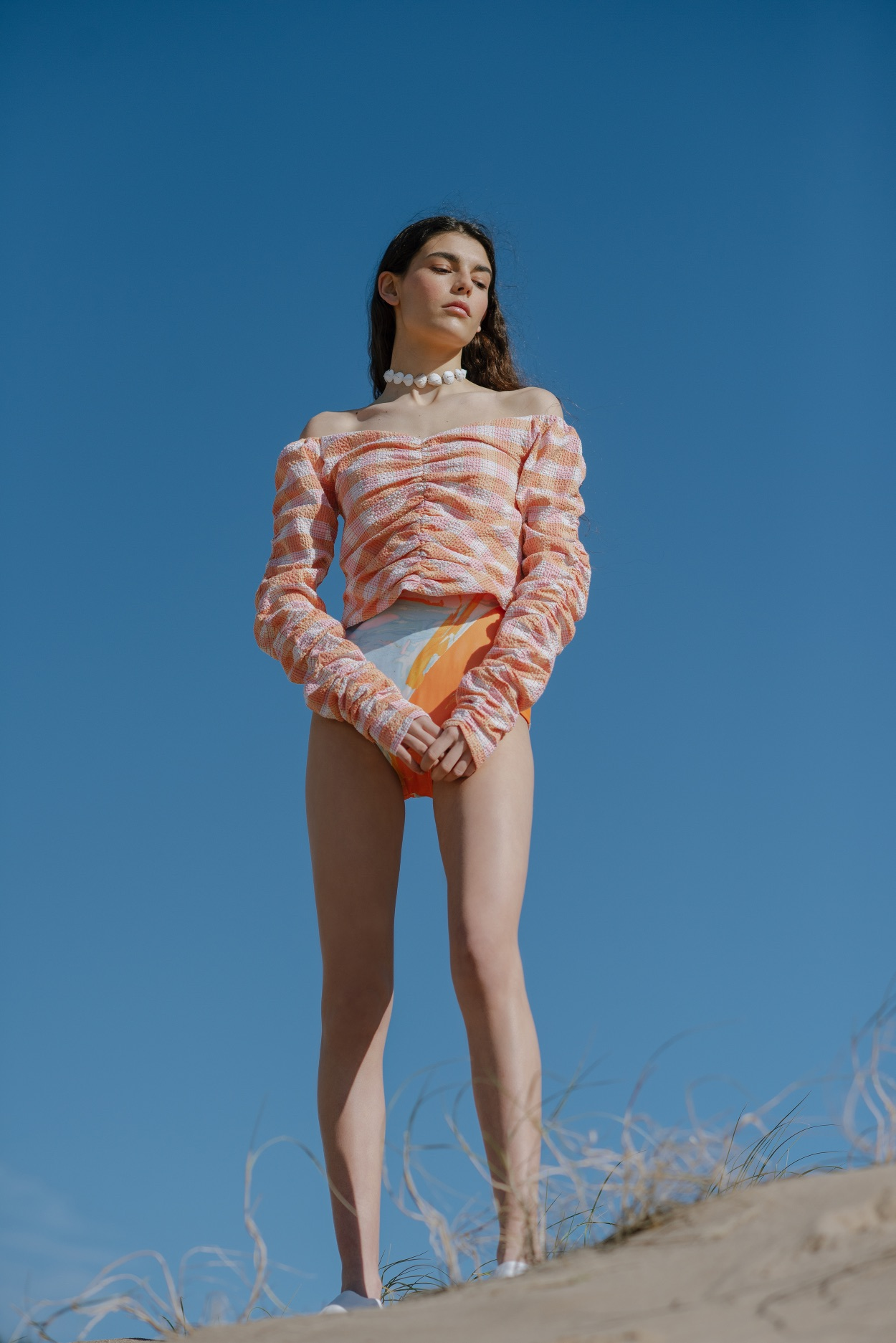 Vida Top - Orange by Berta Cabestany on curated-crowd.com