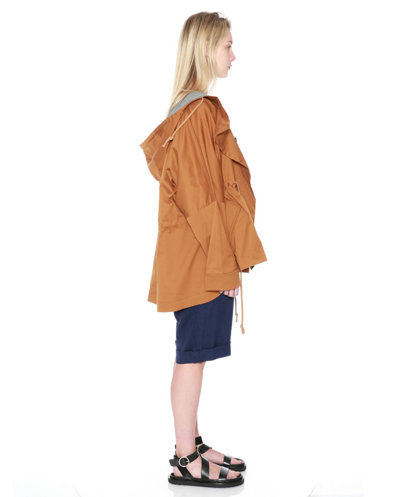 Drawstring Hood Jacket by Teija on curated-crowd.com