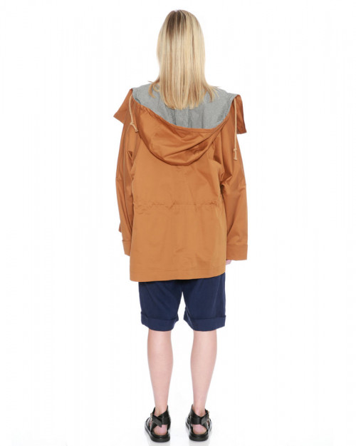 Drawstring Hood Jacket by Teija on curated-crowd.com