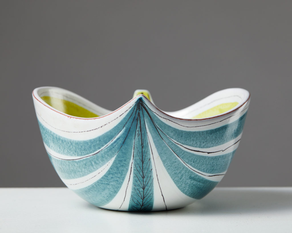 Bowl designed by Stig Lindberg for Gustavsberg, Sweden. 1950's. by Modernity on curated-crowd.com