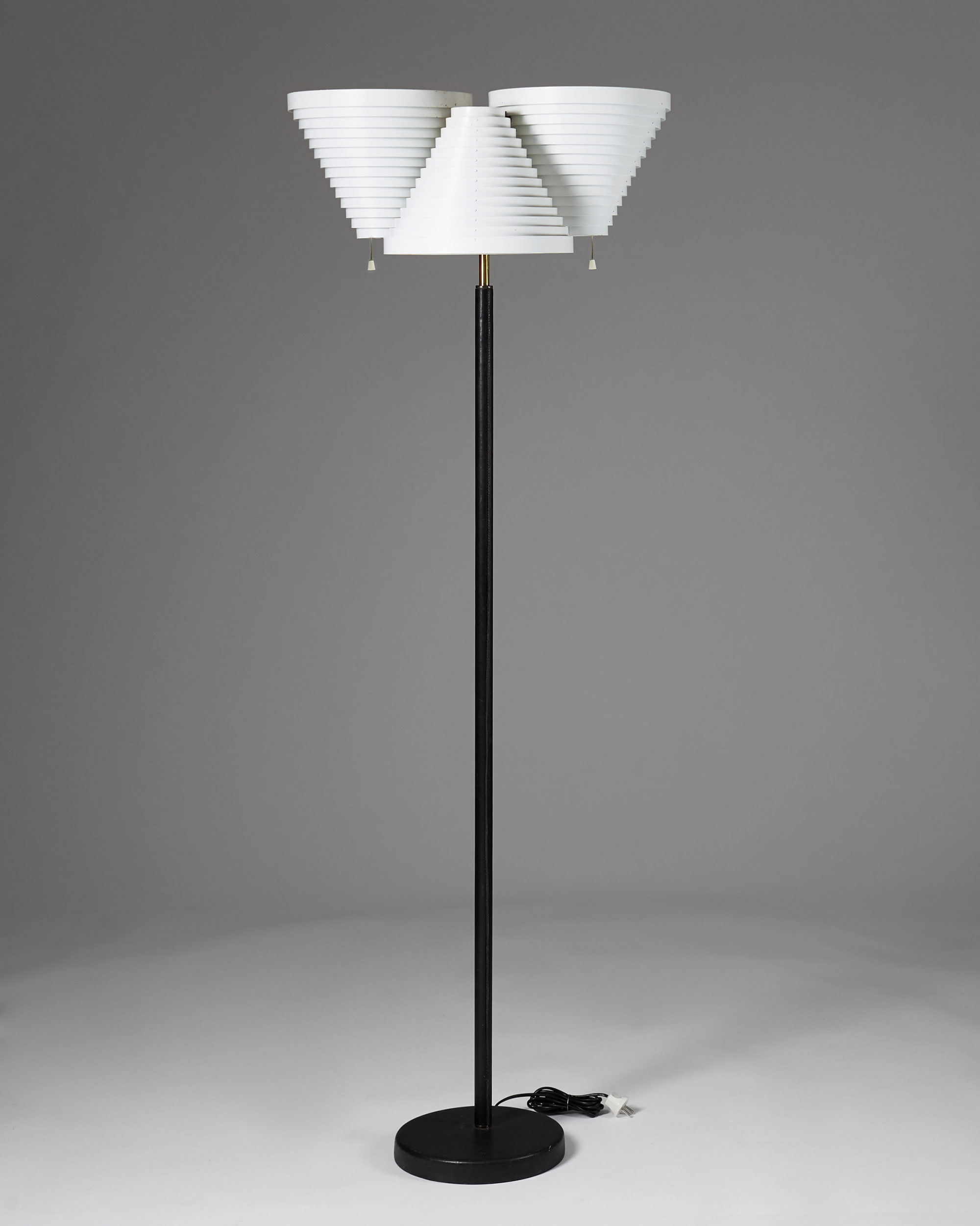 Floor Lamp model A809 designed by Alvar Aalto for Valaistustyö, Finland. 1959. by Modernity on curated-crowd.com