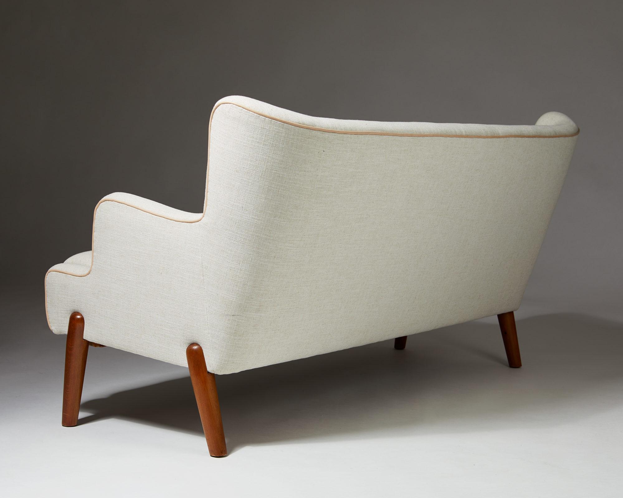 """Sofa """"Koppel"""" designed by Eva and Nils Koppel for Slagelse Møbelværk, Denmark. 1950's. by Modernity on curated-crowd.com"""