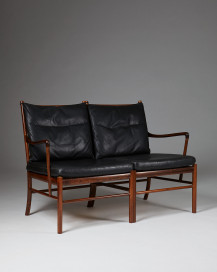 "Sofa ""Colonial"" designed by Ole Wanscher for P. Jeppesen, Denmark. 1950's. by Modernity on curated-crowd.com"