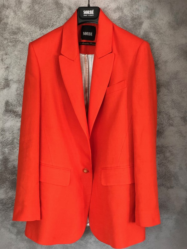 1 Button Mono Oversize Jacket - Orange by Sorbé on curated-crowd.com