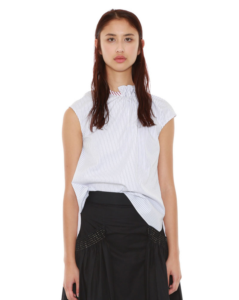 Asymmetrical Draped Tee by Teija on curated-crowd.com