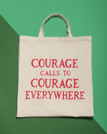 Gillian Wearing Courage Calls Tote Bag by Plinth on curated-crowd.com