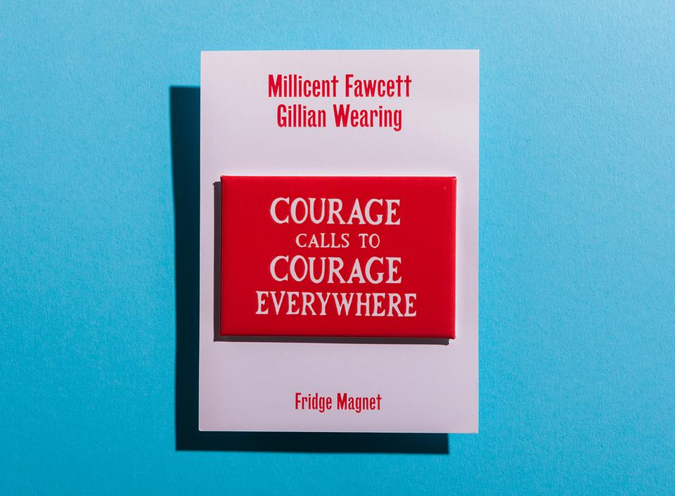 Gillian Wearing Courage Calls Magnet by Plinth on curated-crowd.com