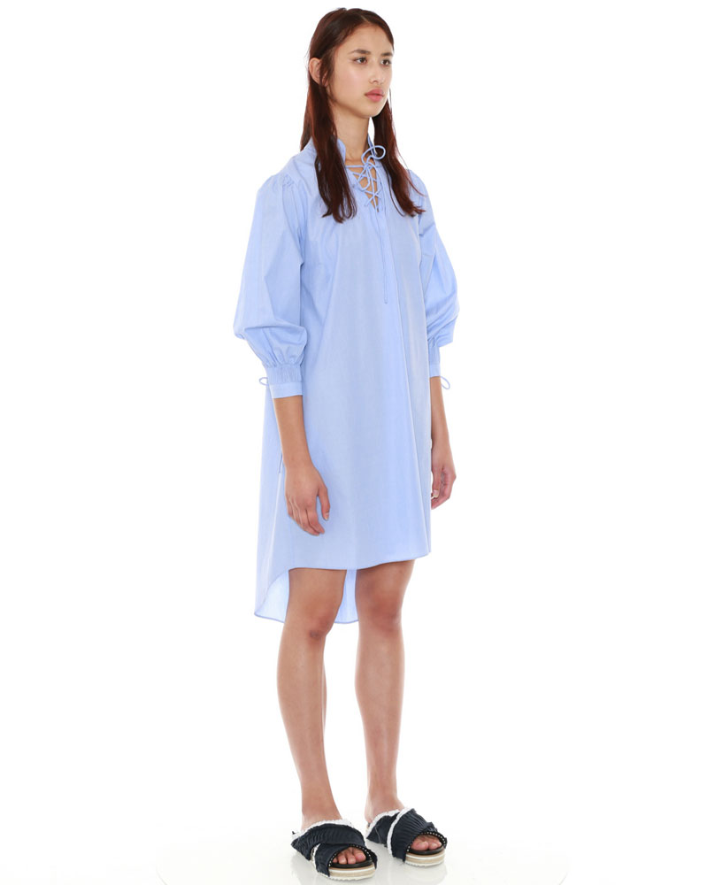 Smocked Sleeve Dress by Teija on curated-crowd.com