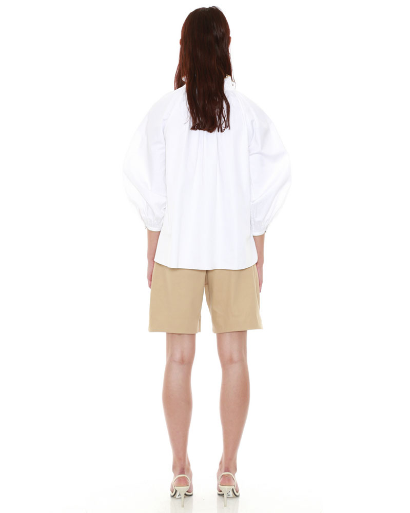 Organic Cotton Smock Neck Blouse by Teija on curated-crowd.com