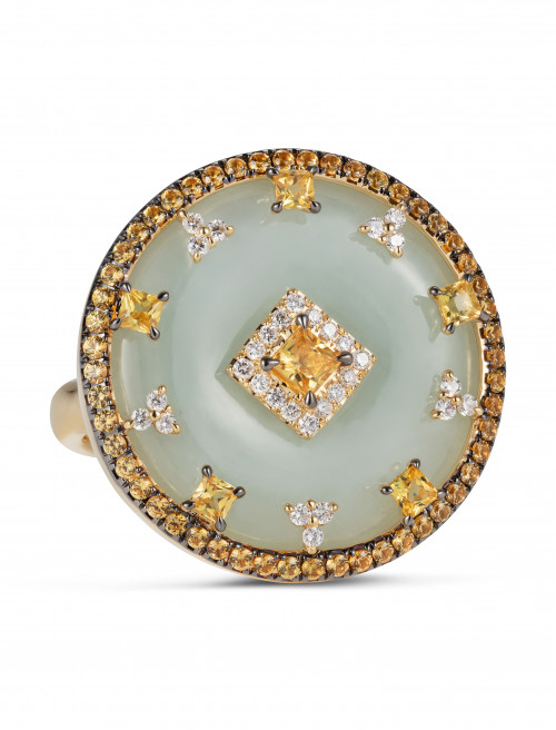 Celeste Yellow Sapphire Ring by Nadine Aysoy on curated-crowd.com
