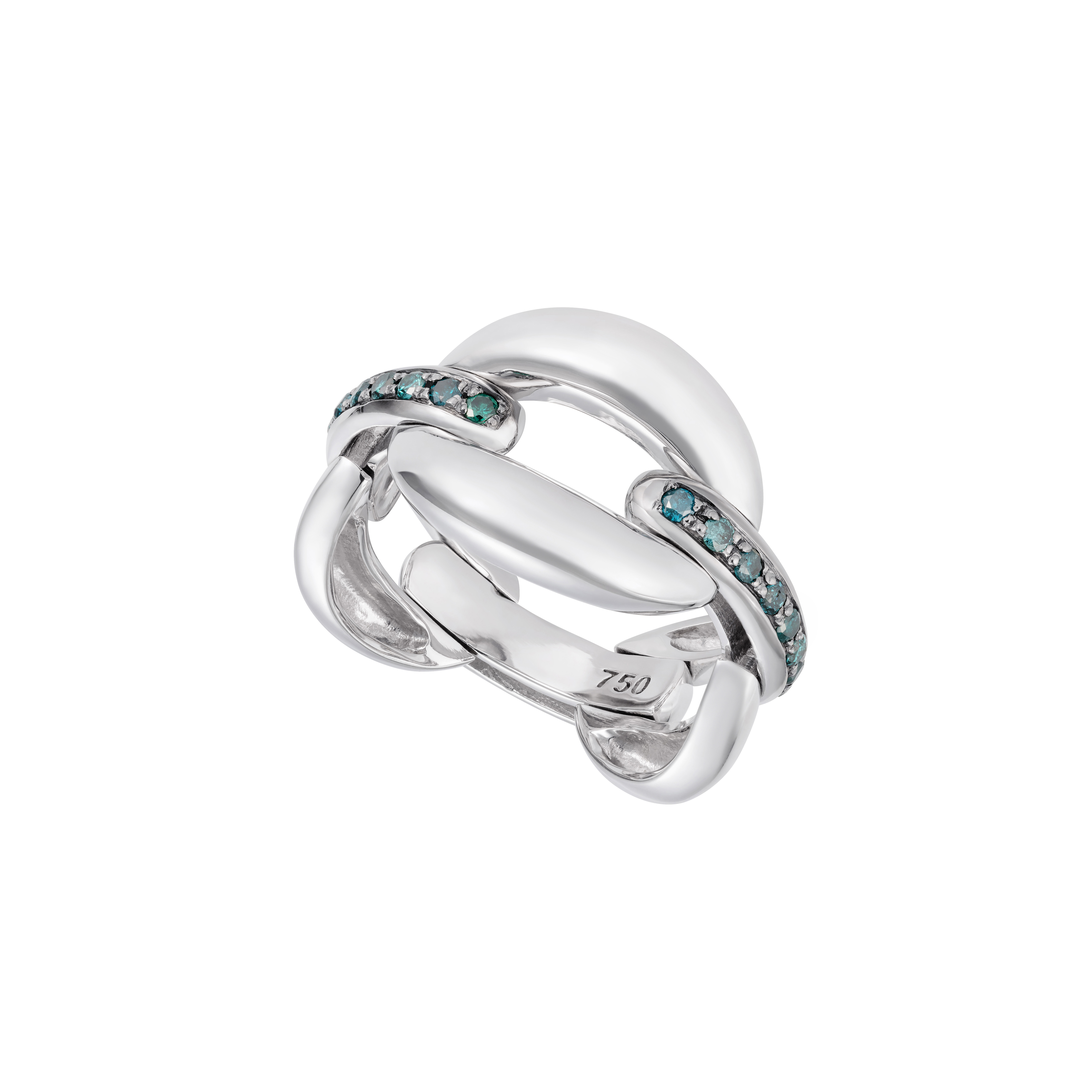 Catena White Gold Ring by Nadine Aysoy on curated-crowd.com