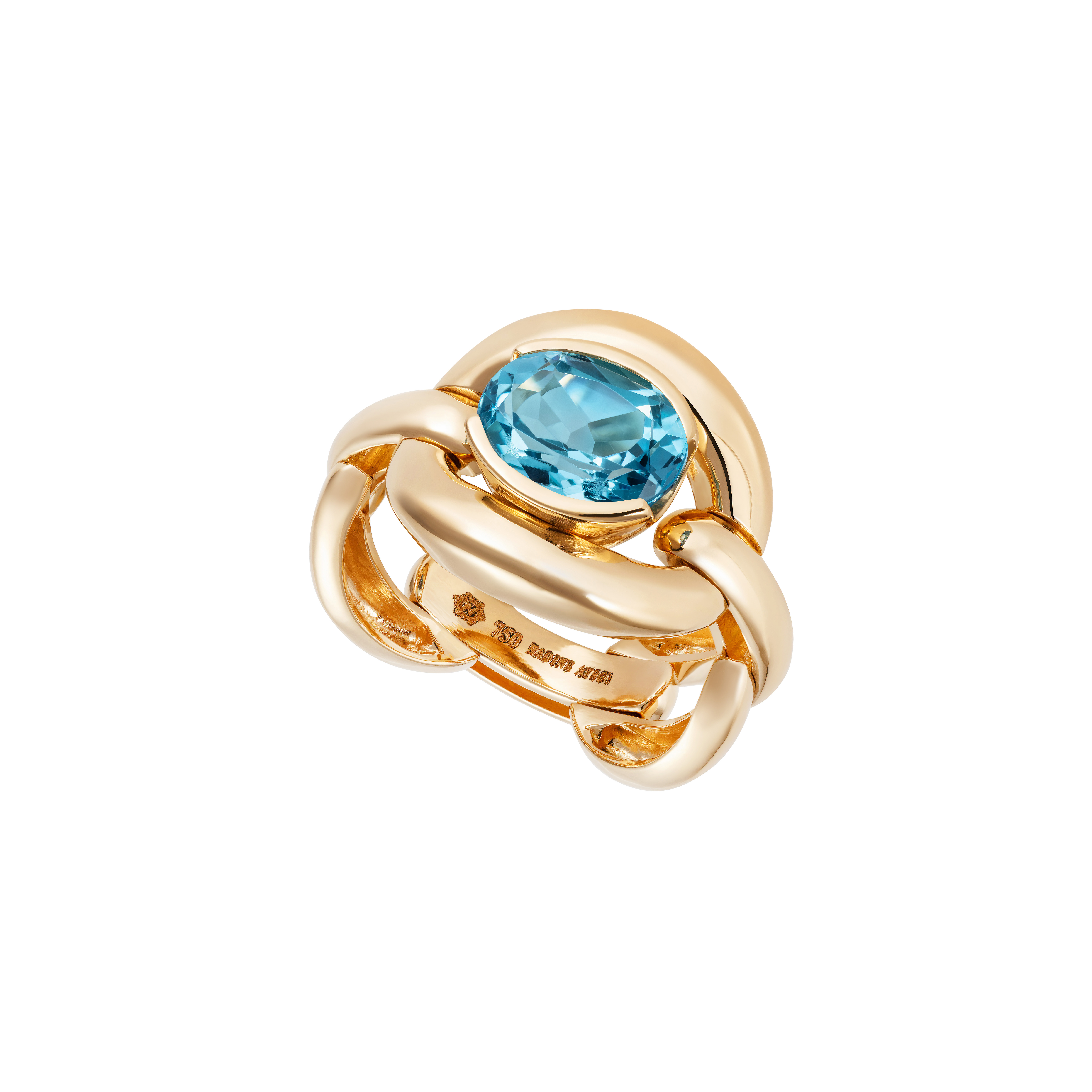 Catena Blue Topaz Ring by Nadine Aysoy on curated-crowd.com