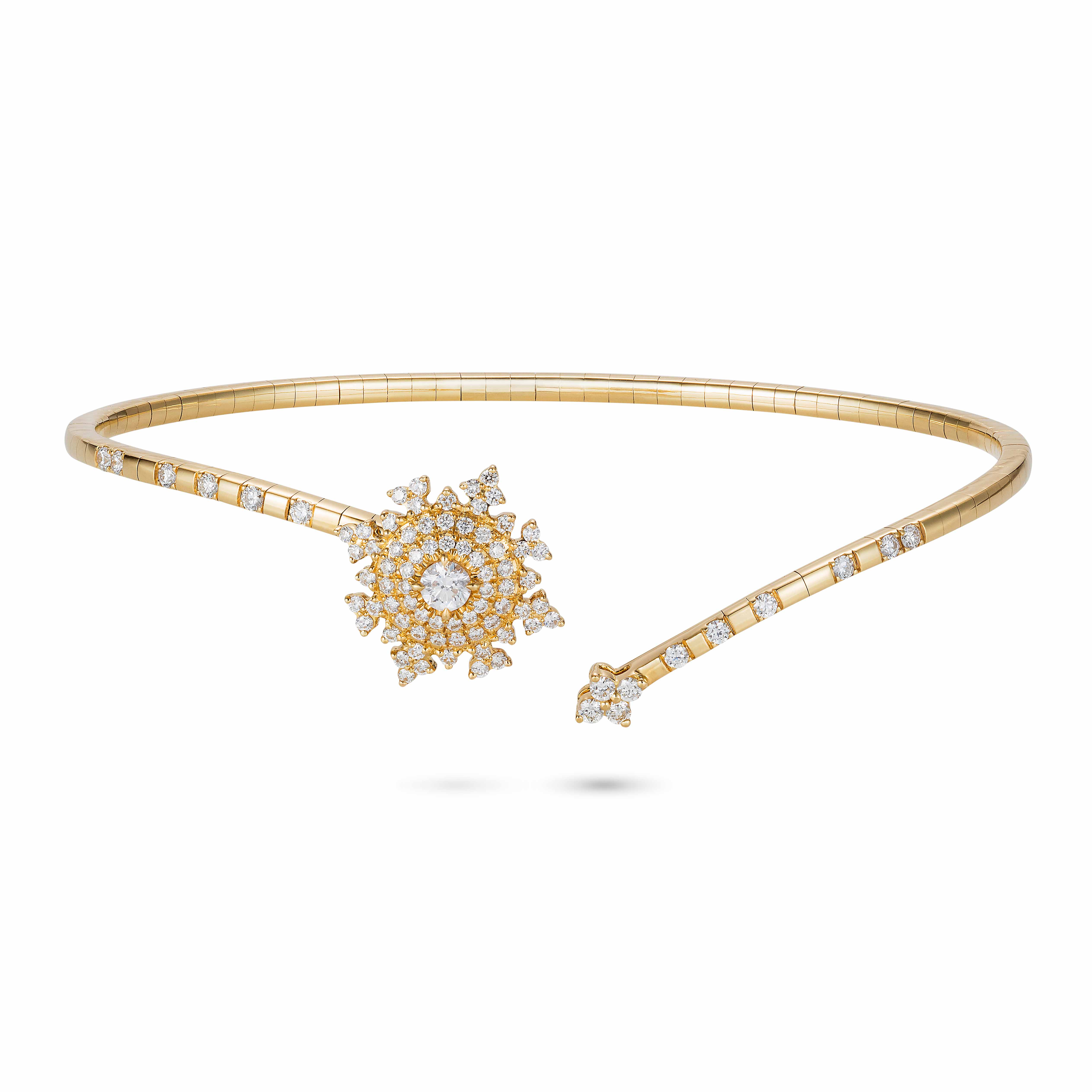Petite Tsarina Yellow Bracelet by Nadine Aysoy on curated-crowd.com