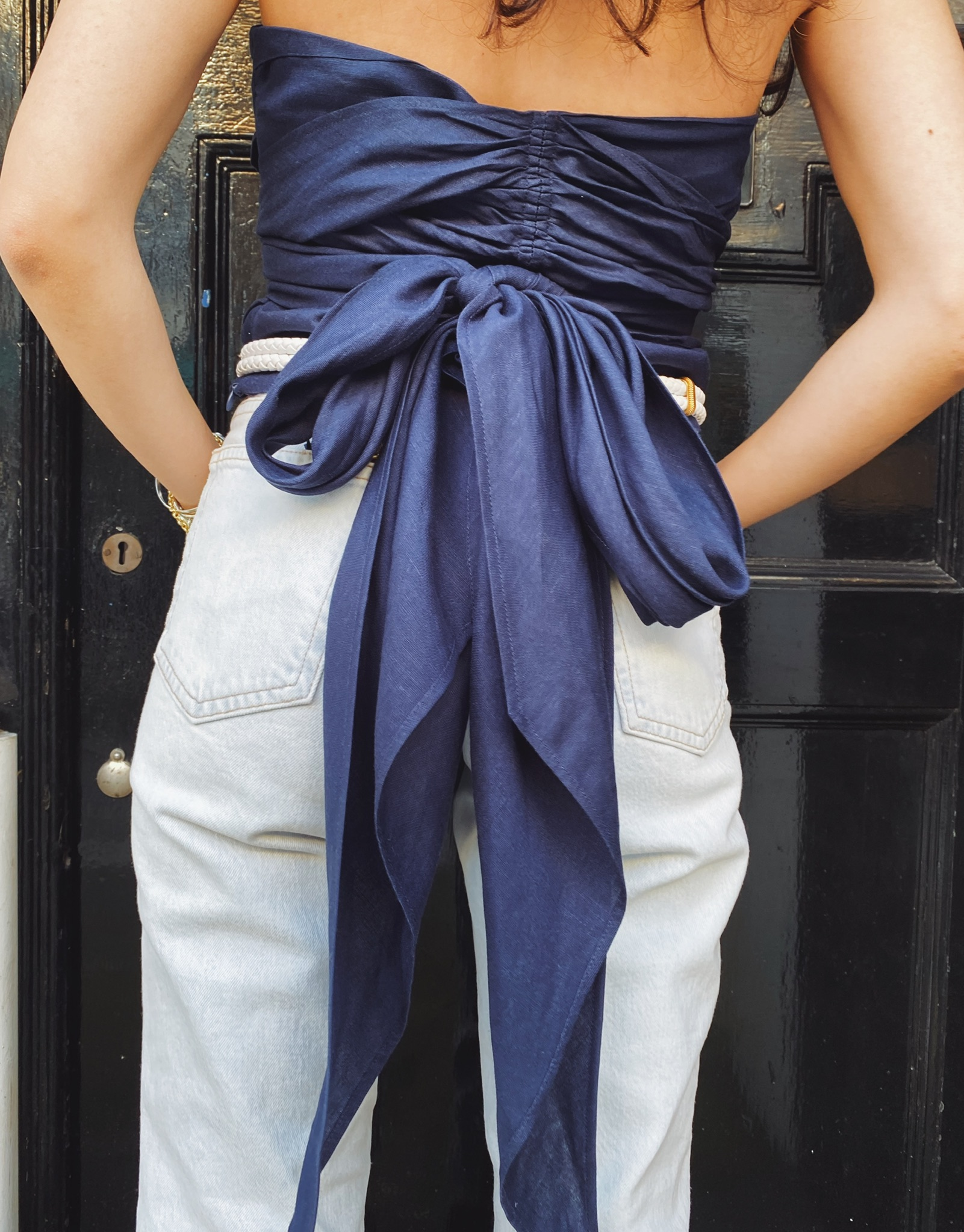 Crema top - Navy by Berta Cabestany on curated-crowd.com