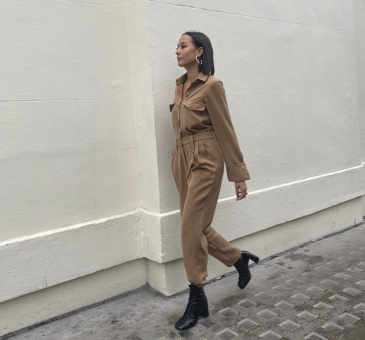 Canyon Jumpsuit - Beige by Jessica K on curated-crowd.com